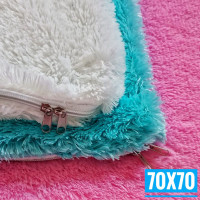70x70 Sarung Bantal Lantai Ruang Tamu   Sarung Bantal Sofa Jumbo Besar - Putih