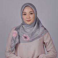 Zoya Flava Scarf - Hijab Kerudung Segi Empat - State Grey