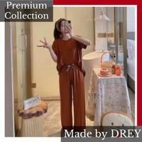 Piyama wanita set CP import premium spandek halus adem