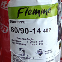 Ban luar motor matic ring 14 FDR flemmo non tubles/tubeless 80/90-14