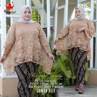 Kebaya burkat JUMBO LD 130~baju kebaya set~kebaya wisuda~kebaya adem