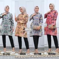 Baju Batik Wanita Lengan Panjang Tunik Soft 04