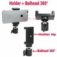 Hp Phone Holder U Tripod + Mini Ball Head 1/4 Screw Ballhead mount