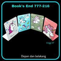 SOS Book End 777 / Pembatas Buku Besi / Pembatas Buku - Cover, Bebas