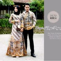 Baju dress couple batik gamis kemeja panjang