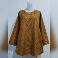 Clachella Baju Atasan Motif Polkadot, Baju Atasan Wanita B71E8565