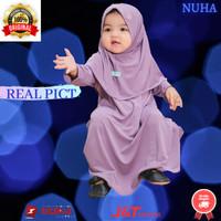 Baju gamis anak perempuan Gamiset daily Nuha Lavender XL 4 tahun