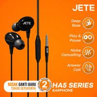 JETE Headset HA5 with Audio Power Bass - Handsfree - Garansi 2 Tahun