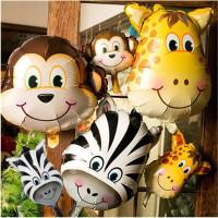 Balon Foil Animal Head Mini / Balon Kepala Hewan Mini / Kids Zoo - Motif