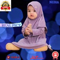 Baju gamis anak perempuan Gamiset daily Nuha Lavender L 3 tahun