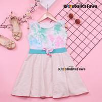 Dress Angel uk 3-4 th Kode B /Dress Balita Anak Cewek Baju Motif Pesta