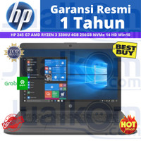 Notebook HP 245 G7 AMD RYZEN 3 3300U 4GB 256GB NVMe 14 HD Win10