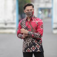 Baju Kemeja Batik Cowok Pria Lengan Panjang Premium Aluna PCW 082 - XXL