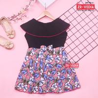 Dress Cantika uk 4-5 Tahun / Dres Yukensi Baju Anak Perempuan Harian - Warna Gelap