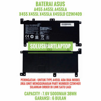 Batre Batrai Asus A455L A455LN A455LF A455LA A455LD X455LA C21N1409