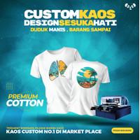Sablon Kaos Custom Satuan DTG Tidak Ada Batasan Warna - DTF*Top Seller*, Logo (10x10cm)