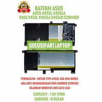 BATERAI Asus A455L A455LN A455LF A455LA A455LD X455LA -C21N1409 ORI