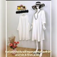 baju atasan wanita model tunik khusus warna putih jumbo ld 137 cm
