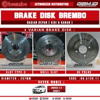 Brake Disc Rotor Brembo slotted Drilled Toyota Innova