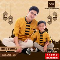 Baju Koko Kurta Pakistan Lengan Panjang Kokoh Muslim Koko Couple A 02 - Mustard, XL Anak