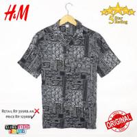 kemeja h&m hawai original motif baju hnm hawaii ori hawaian murah asli