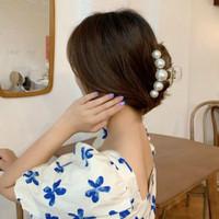 Jepit rambut korea: PEARL HAIR CLAW, model terbaru, keren, bahan kuat