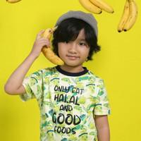 Baju/Kaos Pattern Anak By AfraKids Only Eat Halal And Good Food - S