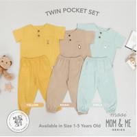 Mooi Setelan Anak Unisex Twin Pocket Set