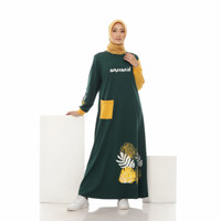 Dress Wanita Terbaru Muslim Kekinian - Gamis Kaos Home Dress