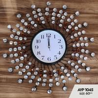 Jam Dinding Art Crystal AYP-1045 Size Diameter 60cm - Made In turki
