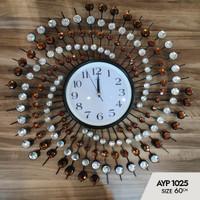 Jam Dinding Art Crystal AYP-1025 Size Diameter 60cm - Made In turki