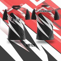 Kaos Jersey Badminton Bulutangkis Costum Fullprint AB0129