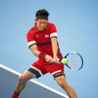 Uniqlo Kei Nishikori US Open 2019 White Polo Shirt Tennis Baju Tenis
