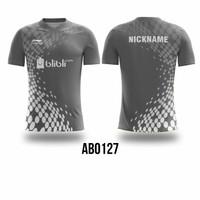 Kaos Jersey Badminton Bulutangkis Costum Fullprint AB0123-AB0127 - AB0127, M