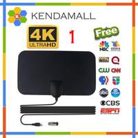 Antena TV Digital DVB-T2 4K High Gain 25dB Taffware Hitam