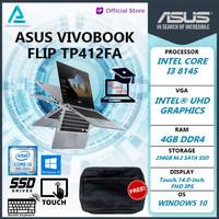 Laptop Asus Vivobook Flip i3 8145 4GB 256ssd W10 14.0FHD TP412FA - 128 gb