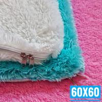60x60 Sarung Bantal Kursi Sofa Tamu | Sarung Bantal Lantai Jumbo Besar - Putih