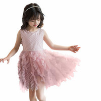 PAKAIAN BAJU IMPORT #P25 DRESS PESTA TUTU BAGUS ANAK PEREMPUAN / CEWEK - Cokelat, Size 110