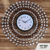 Jam Dinding Art Crystal AYP-1055 Size Diameter 60cm - Made In turki