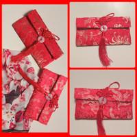angpao merah dompet amplop imlek kain damask chinese new year samping