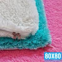 80x80 Sarung Bantal Lantai Ruang Tamu Jumbo   Sarung Bantal Sofa Besar - Putih