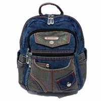 Tas Ransel / Backpack Wanita Denim / Jeans 302415