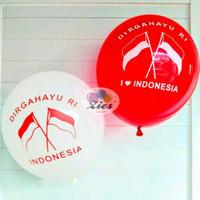 balon latex merah putih DIRGAHAYU RI/balon 17 agustus perpack isi 100