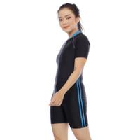 Baju Renang/Diving Dewasa Pria dan Wanita UNISEX - BIRU LIS 2, M