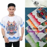 Kaos Barong Lukis Bali Putih Polos Size ABG