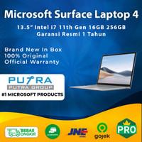 Microsoft Surface Laptop 4 13.5 256GB 16GB Intel i7 11th Gen SSD 256 - Platinum