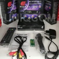 Set Top Box TV Digital DVBT2 DVB T2 EVINIX H1 Powered SKYBOX