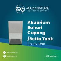 akuarium bahari cupang /betta tank uk13x13x19cm