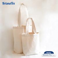 Krisnatex Tote Bag Kanvas Natural Polos Cotton Besar Potrait