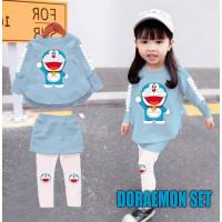 FMJ 67 Setelan Baju Doraemon Minnie Mouse Anak Perempuan Wanita Cewek